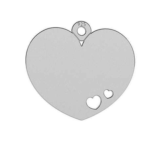 Serce blaszka zawieszka, srebro próby 925, LKM-2050