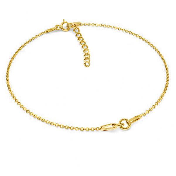 Bransoletka łańcuszkowa - dwuczęściowa z przedłużką*srebro AG 925*BRACELET 18 (A 030) + R1 50 15-19 cm