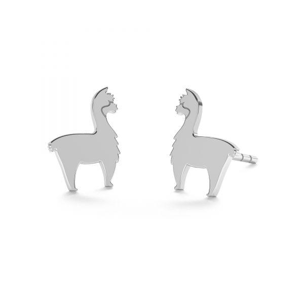 Kolczyk sztyft - alpaka*srebro AG 925*KLS LKM-2368 - 0,50 6,6x9 mm