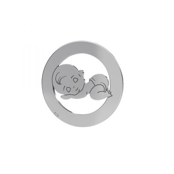 Zawieszka - anioł chłopiec*srebro AG 925*LKM-2361 - 0,50 9x17 mm