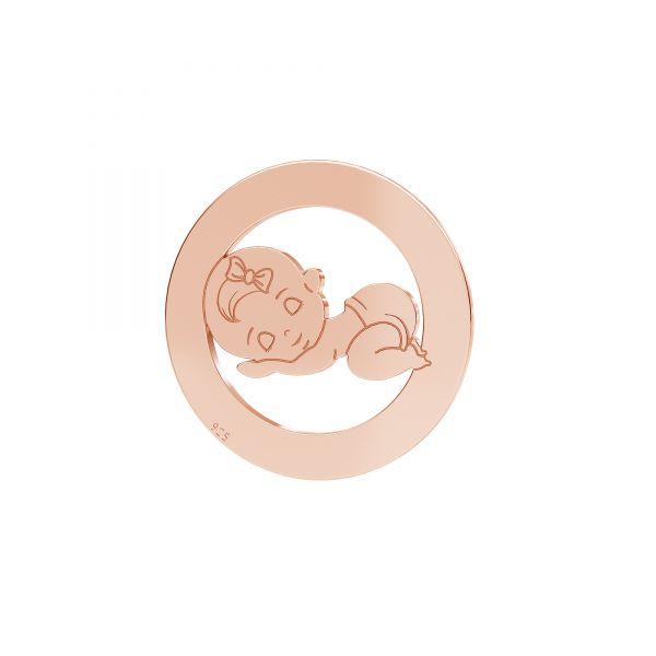 Zawieszka - dziewczynka*srebro AG 925*LKM-2360 - 0,50 17,5 mm