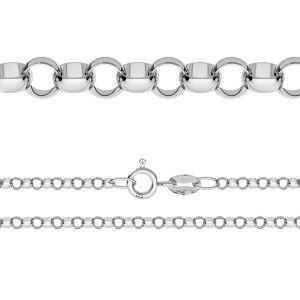 Łańcuszek typu Rolo z zamkiem*srebro AG 925*ROLO 035 (40 cm)