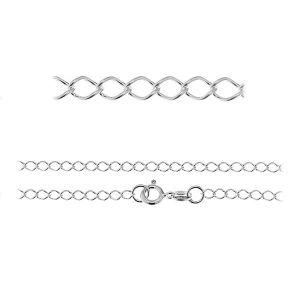 Łańcuszek typu Rombo z zamkiem*srebro AG 925*R1 50 (40 cm)