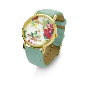 Zielony zegarek z kwiatkami, MODEL 464