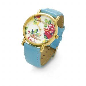 Turkusowy zegarek z kwiatkami, MODEL 464