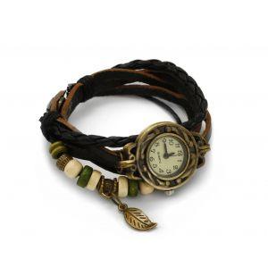 Czarny zegarek sznurkowy, MODEL 362