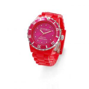 Różowy zegarek z kryształami Swarovskiego, MODEL 646