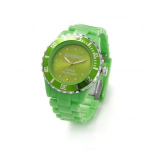 Zielony zegarek z kryształami Swarovskiego, MODEL 646