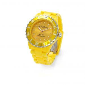Żółty zegarek z kryształami Swarovskiego, MODEL 646