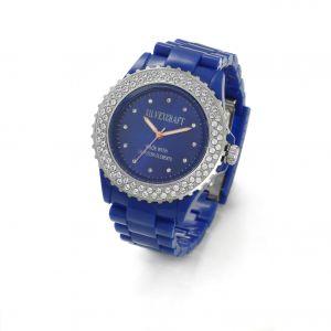 Niebieski zegarek z kryształami Swarovskiego, MODEL 443