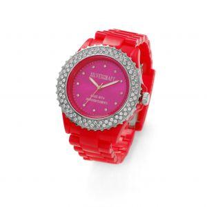 Różowy zegarek z kryształami Swarovskiego, MODEL 443