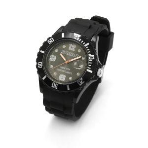 Czarny zegarek z kryształami Swarovskiego, MODEL 278