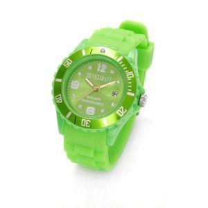Zielony zegarek z kryształami Swarovskiego, MODEL 278