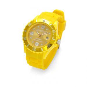 Żółty zegarek z kryształami Swarovskiego, MODEL 278