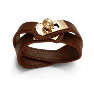 Brązowa bransoletka z rzemienia - Hermes, MODEL 338