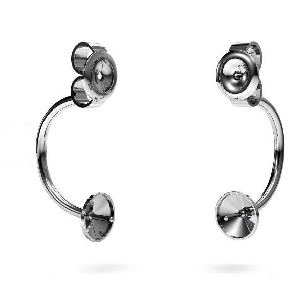 Kolczyk za ucho - miseczka ze szpilką - baza do pereł*srebro AG 925*MSK 4 SWING 5x18 mm