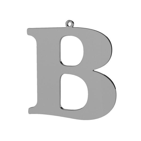 Zawieszka - duża literka B - prosta czcionka*srebro AG 925*LKM-2489 - 0,60 36,7x38,4 mm