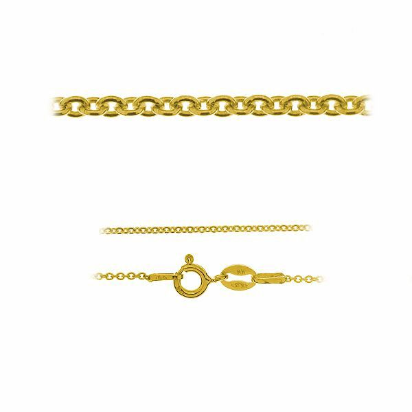Złoty łańcuszek typu Ankier z zamkiem*złoto AU 585*A 030 40-60 cm