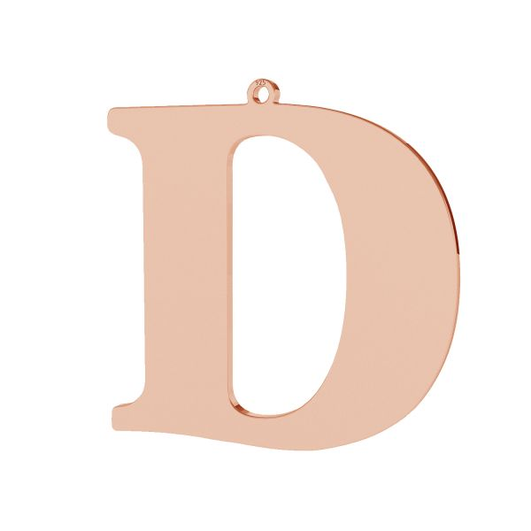 Zawieszka - duża literka D - prosta czcionka*srebro AG 925*LKM-2491 - 0,60 38,2x38,4 mm