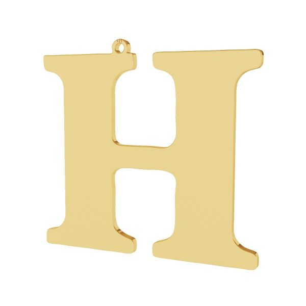Zawieszka - duża literka H - prosta czcionka*srebro AG 925*LKM-2495 - 0,60 38,2x41 mm