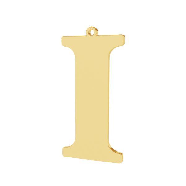 Zawieszka - duża literka I - prosta czcionka*srebro AG 925*LKM-2496 - 0,60 18,7x38,2 mm