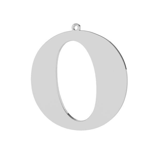 Zawieszka - duża literka O - prosta czcionka*srebro AG 925*LKM-2502 - 0,60 38,5x39,7 mm
