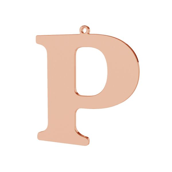 Zawieszka - duża literka P - prosta czcionka*srebro AG 925*LKM-2503 - 0,60 35,2x38,4 mm
