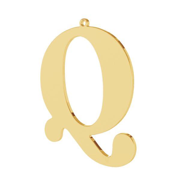 Zawieszka - duża literka Q - prosta czcionka*srebro AG 925*LKM-2504 - 0,60 38,2x47,2 mm