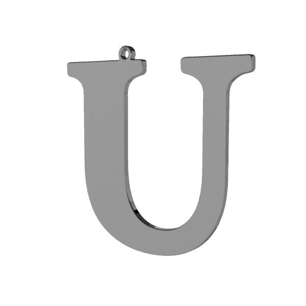 Zawieszka - duża literka U - prosta czcionka*srebro AG 925*LKM-2508 - 0,60 38,9x40,4 mm