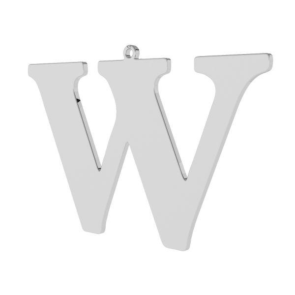 Zawieszka - duża literka W - prosta czcionka*srebro AG 925*LKM-2510 - 0,60 38,4x58,3 mm