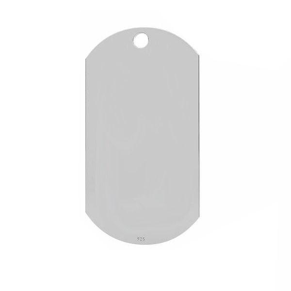 Zawieszka - nieśmiertelnik*srebro AG 925*LKM-2570 - 0,50 17x32 mm