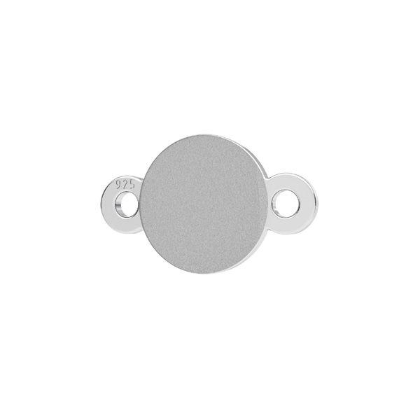 Zawieszka łącznik - okrągła baza do kryształów Swarovski Xirius Rose*srebro AG 925*CON-2 LKM-2400 - 05 6,5x10,5 mm (2088 SS 30)