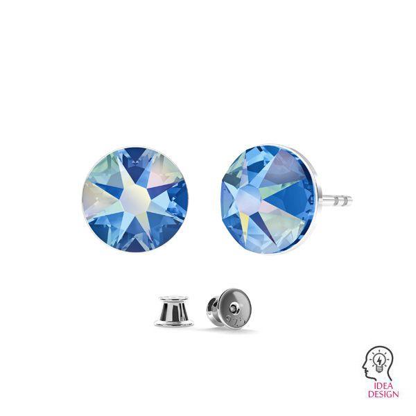 Kolczyk sztyft - okrągła baza do kryształów Swarovski Xirius Rose*srebro AG 925*KLS LKM-2398 - 05 6,5x6,5 mm (2088 SS 30)