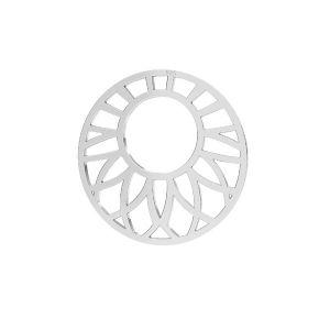 Zawieszka łącznik ażurowy - rozeta*srebro AG 925*LKM-2289 - 0,50 20x20 mm