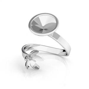 Pierścionek spiralny - baza do perły i rivoli*srebro AG 925*D-RING ODL-00088 (1122 SS 39, 5818 MM 10)