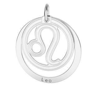 Zawieszka z kółkiem - znak zodiaku - lew*srebro AG 925*LKM-2587 - 0,50 18x22 mm