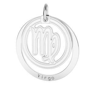 Zawieszka z kółkiem - znak zodiaku - panna*srebro AG 925*LKM-2590 - 0,50 18x22 mm
