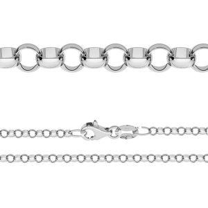 Łańcuszek typu Rolo z zamkiem*srebro AG 925*ROLO 055 ver.3,30 (40 cm)