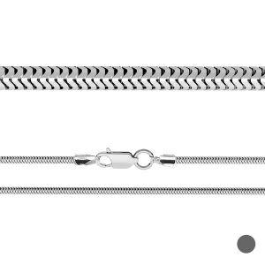 Łańcuszek typu ogon węża z zamkiem*srebro AG 925*CSTD 2,4 (38 cm)