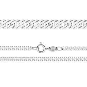 Łańcuszek typu Rombo z zamkiem*srebro AG 925*RD 50 40-45 cm