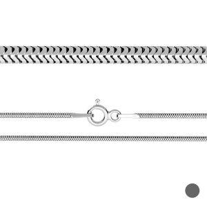 Łańcuszek typu ogon węża z zamkiem*srebro AG 925*CSTD 1,6 (40 cm)