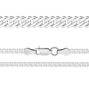 Łańcuszek typu Rombo z zamkiem*srebro AG 925*RD 100 6L (38 cm)