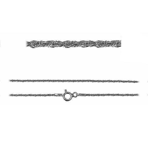 Łańcuszek typu lisi ogon skręcany z zamkiem*srebro AG 925*LOS 80 40 cm