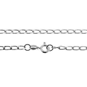 Łańcuszek typu Pancerka z zamkiem*srebro AG 925*PDD 70 40 cm