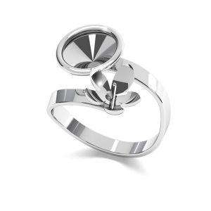 Pierścionek spiralny - baza do perły i rivoli*srebro AG 925*D-RING ODL-00088 (1122 SS 39, 5818 MM 10) ver.2