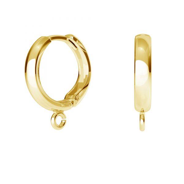 Bigiel angielski - okrągły typu kajdanki do podwieszania*srebro AG 925*ODL-00732 BZO 1 13,7x16,5 mm