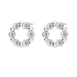 Kolczyk sztyft - kółko baza do kryształów Swarovskiego*srebro AG 925*ODL-00704 KLS 14,2 mm (1088 PP 18)