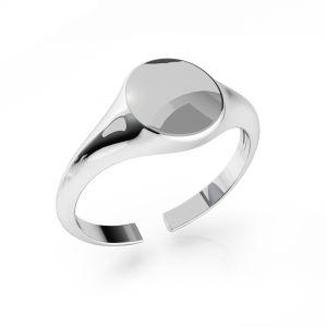 Pierścionek sygnet - koło - baza do grawerowania*srebro AG 925*ODL-00735 7,5x19 mm