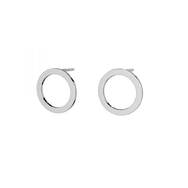 Kolczyk sztyft - koło oponka*srebro AG 925*LK-2573 KLS - 0,50 13 mm