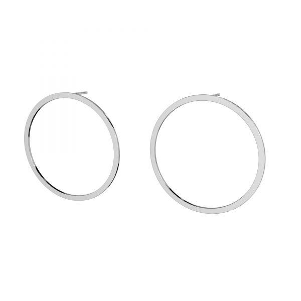 Kolczyk sztyft - koło oponka*srebro AG 925*LK-2575 KLS - 0,50 35 mm